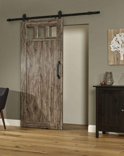 PVC Barn Door G 36 Inch - Weathered Gray