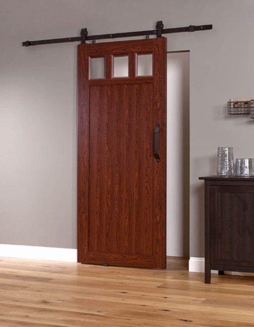 PVC Barn Door G 36 inch - Cherry