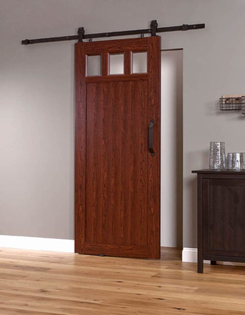 PVC Barn Door G 36 inch - Cherry