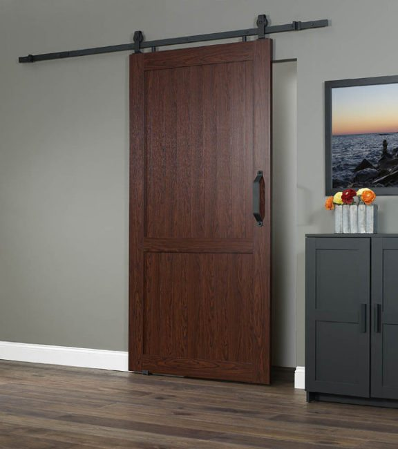 "PVC Barn Door H 42"" - Cherry"