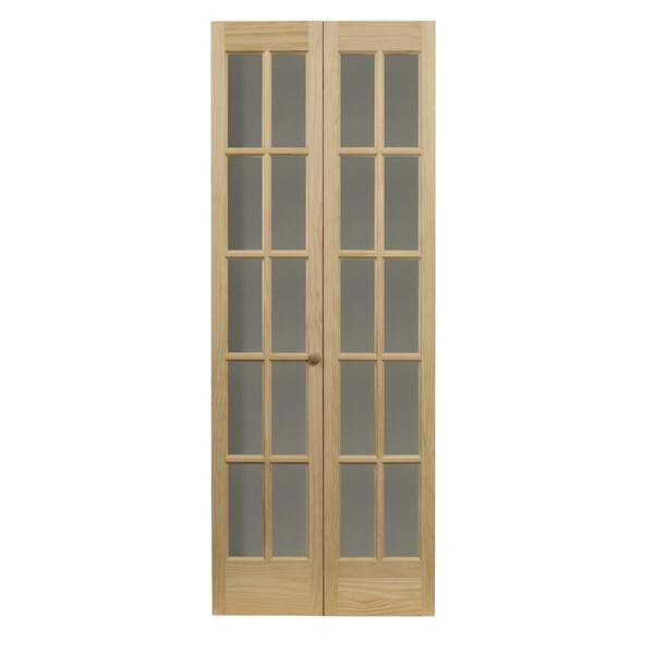 Traditional Glass Bifold Door - Natural