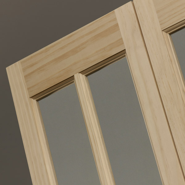 Traditional Glass Bifold Door - Natural Detail