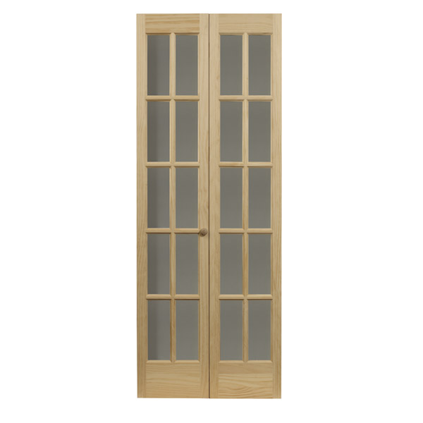 Traditional Glass Bifold Door - Natural