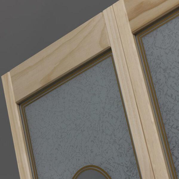 Victorian Glass Bifold Door - Detail