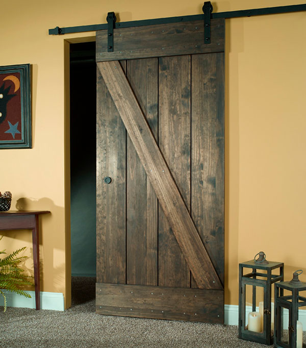 Wood Barn Door Kit Rustic Wooden Sliding